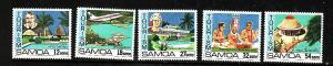 Samoa-Sc#553-7-Unused NH set-Hotel Tusitala-Apia Harbor-1981-