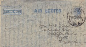 APS3) Australia 1944 7d Aerogramme ACSC A1A with AIR LETTER in 2 words