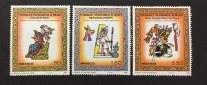 Mexico 1980 #1201-3, Pre Hispanic Art, MNH.