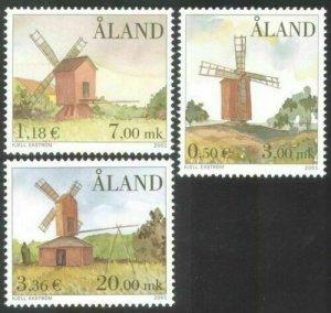 2001   ALAND  -  SG:202/204  - WINDMILLS  -  UNMOUNTED MINT