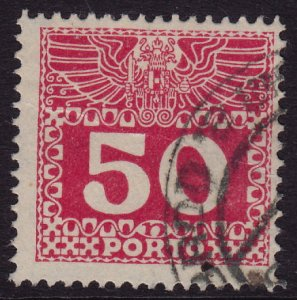 Austria - 1908 - Scott #J43 - used - Numeral