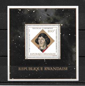 RWANDA MNH SOUV. SHEET SC#571 COPERNICUS AND ASTROLABE SCV$5.50