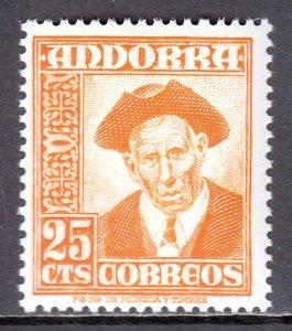 Andorra (Spanish) - Scott #41 - MNH - SCV $5.00