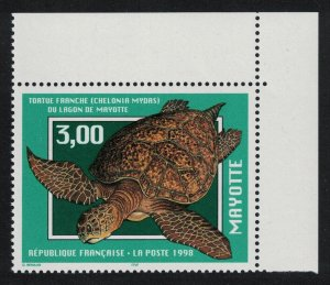 Mayotte Indian Ocean Green Turtle Top Right Corner SG#76
