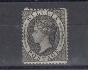 St Lucia 1876 1d Black SG15 MH J5005