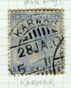 INDIA; POSTMARK fine used cancel on QV issue, Karwar