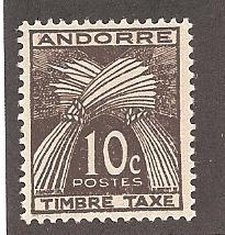 French Andorra J32 Mint VF H