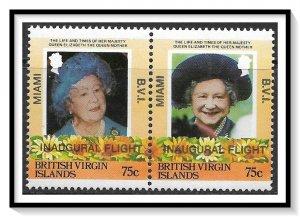 British Virgin Islands #530-531 Inaugural Flight Pair MNH