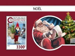 HERRICKSTAMP NEW ISSUES CENTRAL AFRICA Christmas Souvenir Sheet