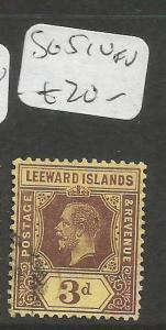 Leeward Islands SG 51 VFU (4cqv)