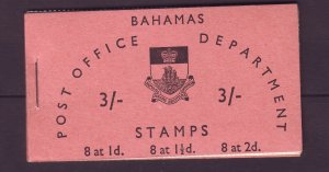 J24119 JLstamps 1965 bahamas complete mnh bklt 8 each #205,206,207 in blks 4