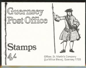 Guernsey St Martin's Officer 4 shilling sewn Booklet 1969