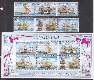 Anguilla, Sc 259-264a (1), MNH, 1976, Battle of Anguilla