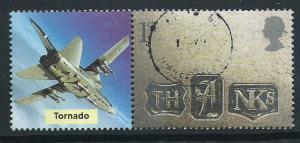 GB  QE II  SG 2183 VFU May 1st Print w/ Tornado label se-...