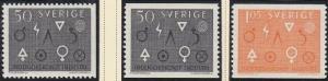 (SA) Sweden Scott #626-28 MNH Complete Set