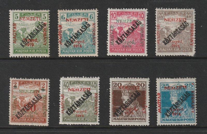 Hungary Szeg 1919 a small MH lot