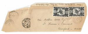 New Caledonia 1946 Partial Cover to USA, Front Only, see notes - Lot 101717