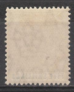 BAHAMAS 1912 KGV 5/- WMK MULT CROWN CA