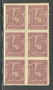 GERMANY  SC# O4 **MNH**  1920-21   15pf   OFFICIAL   SEE SCAN