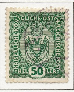 Austria 1916 Early Issue Fine Used 50h. NW-38046