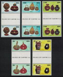 Kenya Kenyan Material Culture 2nd issue 5v Gutter Pairs SG#646-650
