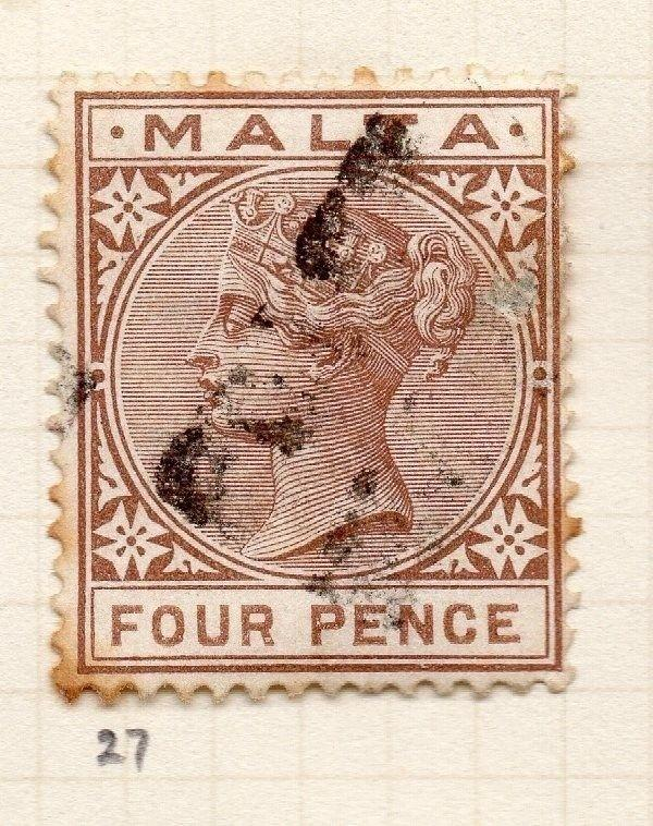 Malta 1885 Early Issue Fine Used 4d. 259501