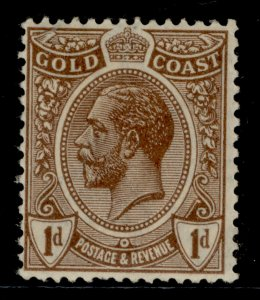 GOLD COAST GV SG87, 1d chocolate-brown, LH MINT.