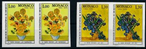[I1942] Monaco 1978 Flowers good set of stamps pair very fine MNH imperf $70