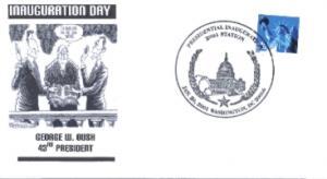 Bush Inaugural cover Noble Catalog number GWB-007