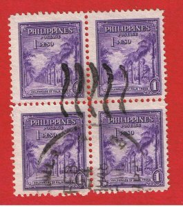 Philippines #510  VF used block of 4 Avenue of Palms Free S/H