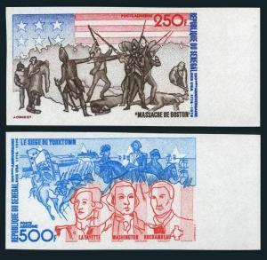 Senegal C141-C142 imperf,MNH.Mi 577B-578B. American Bicentennial,1976.Events.