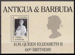 1986Antigua & Barbuda938/B10860 years of Queen Elizabeth II