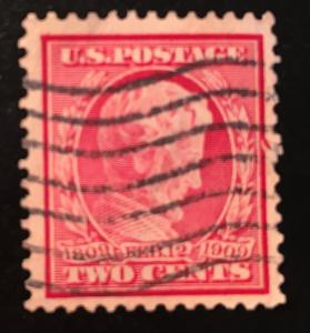 367 Lincoln, perf.12, DL, Circulated single, Vic's Stamp Stash