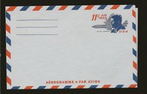 USA UC38 John F Kennedy 11Cent Aerogramme Unused