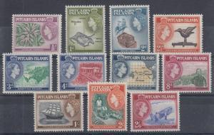 Pitcairn Islands Sc 20-30 MLH. 1957 QEII definitves cplt F-VF