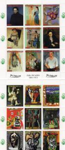 Turkmenistan 1999 PICASSO/CHINA' 99 PHILATELIC EXHIBITION 2 Sheetlets (9) MNH