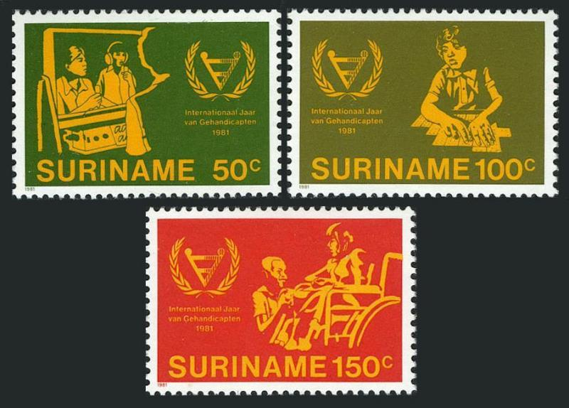 Surinam 580-582,MNH.Michel 954-956. Year of the Disables,IYD-1981.