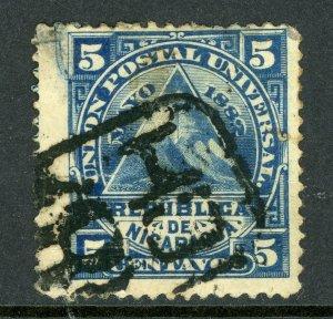 Nicaragua 1882 ABNC 5¢ w/ Chinandega Cancel VFU L795