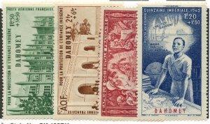 Dahomey, Scott #CB1-4, Unused, No Gum