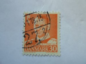 DENMARK STAMP. USED. NO HINGE, # 35