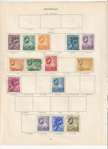 SEYCHELLES GEORGE 6TH SET 1938-1949 TO 2.25 RUPEES, MINT/USED