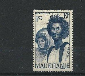 MAURITANIA  1938 - 40  1F 75  BRIGHT BLUE        MH