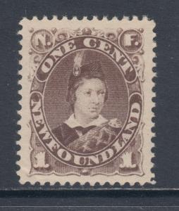Newfoundland Sc 43 MLH. 1896 1c brown Prince of Wales