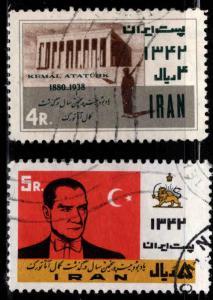 IRAN Scott 1269-1270 Used stamp set