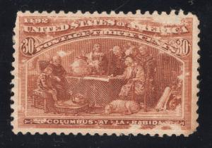 US# 239 Orange Brown - Mint - O.G. - N.H. - Flawed - Free Domestic Shipping