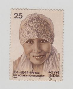 India 1978  # 788  The Mother Podicherry  Used  04180  SD
