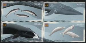 Canada - 2000 Whales Set of 4 VF-NH #1871a