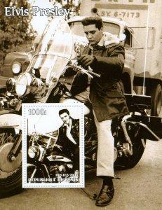 Benin 2004 ELVIS PRESLEY Harley Davidson s/s Perforated Mint (NH)