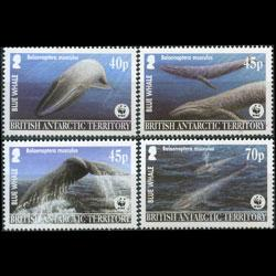 BR.ANTARCTIC TERR. 2003 - Scott# 326-9 Whales Set of 4 NH