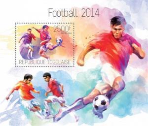 Togo - 2014 Football 2014 on Stamps - Stamp Souvenir Sheet - 20H-901